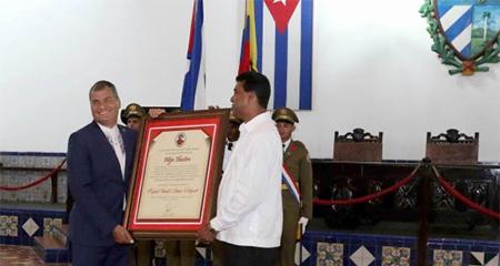 En Cuba declaran a Rafael Correa Hijo Ilustre de la Ciudad