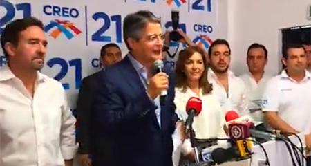 Guillermo Lasso invita a Lenín Moreno a cumplir 10 puntos básicos para que su gobierno tenga confianza