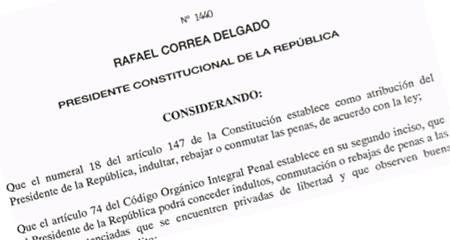 Correa indultó a mulas del narcotráfico