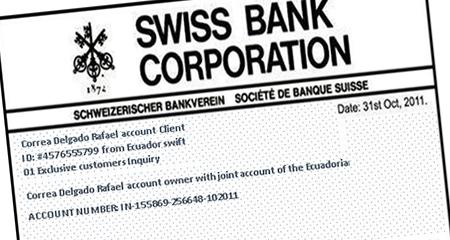 Periodista colombiano, asegura que Correa depositó UN BILLÓN de dólares en banco suizo