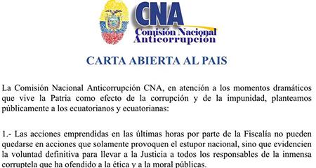Comisión Anticorrupción pide a Lenin Moreno se retire de funciones a vicepresidente Jorge Glas y contralor Carlos Pólit