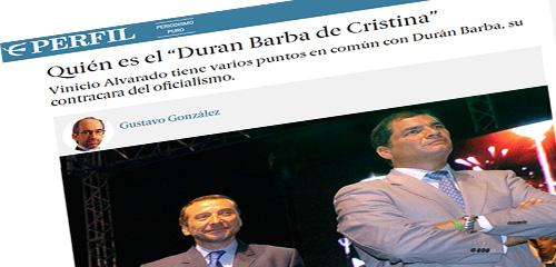 Diario argentino dice que Vinicio Alvarado es el nuevo asesor de Cristina Kirchner