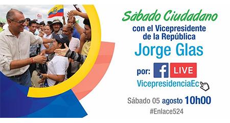 Secretaría de Comunicación dice que el Enlace Ciudadano de Jorge Glas no representa al gobierno