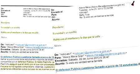 En Estados Unidos, revelan emails de Correa para manipular sistema de justicia (Video)
