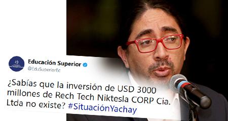 Secretaría de Educación desmiente a su anterior Secretario René Ramírez, sobre inversión de Tesla