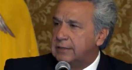 Lenin Moreno calificó como «sombrío» y «oscuro» último periodo de Gobierno de Rafael Correa