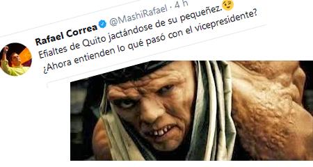 Correa compara a Lenin Moreno con personaje deforme y jorobado
