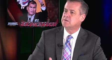 En Miami, ex asambleísta Andrés Páez comenta sobre la metida de mano a la justicia del correísmo