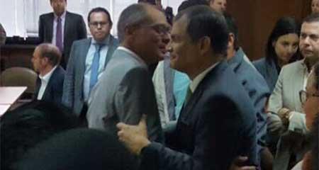 Correa visita a Jorge Glas en la Corte Nacional de Justicia