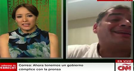 Correa desconoce a periodista Gabriela Frías, en entrevista con CNN (Video)