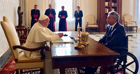 Lenín Moreno se reunió con el Papa Francisco en el Vaticano