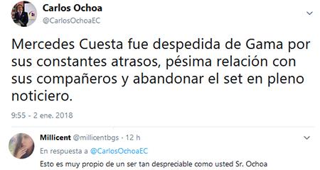 Asambleísta María Mercedes Cuesta responde ataques de Carlos Ochoa