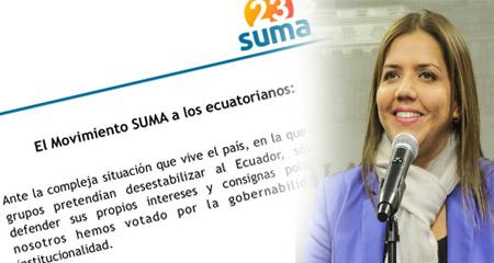 Críticas a SUMA -partido de Mauricio Rodas- tras votar a favor de Ma. Alejandra Vicuña