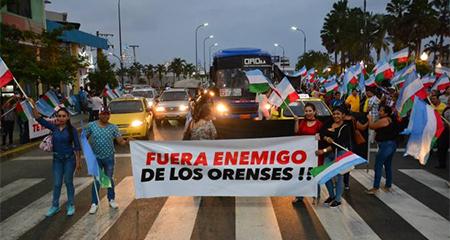 Marcha ciudadana impidió ingreso de expresidente Rafael Correa a Machala (Video)