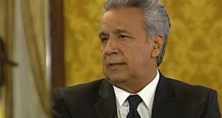 Lenin Moreno dice que su vicepresidenta Alejandra Vicuña:  « es una mujer íntegra » (Video)