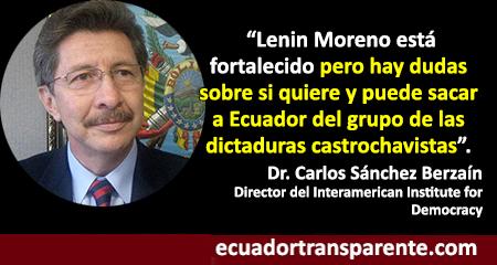 ¿Sale Ecuador del grupo de dictaduras castrochavistas?