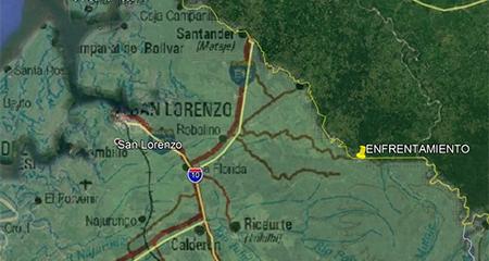 Militares ecuatorianos fueron atacados por hombres armados en la frontera norte