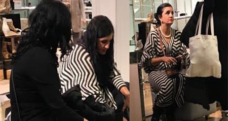 Rosana Alvarado es captada de compras en Nueva York