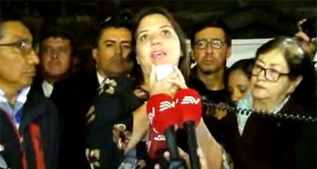 Vicepresidenta Vicuña no tiene claro de qué medio son los periodistas secuestrados