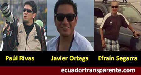 Revelan los nombres del integrantes de El Comercio secuestrados en Mataje