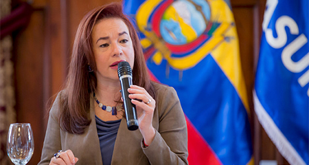 Ciudadanía exige renuncia de Canciller María Fernanda Espinosa