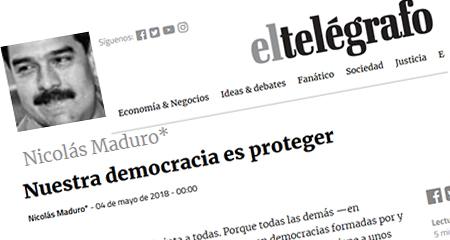 Nicolás Maduro se estrena como columnista de diario el Telégrafo