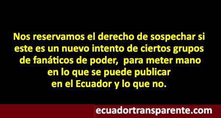 Comunicado de Ecuador Transparente a nuestros lectores, sobre la supuesta asociación de medios digitales del Ecuador