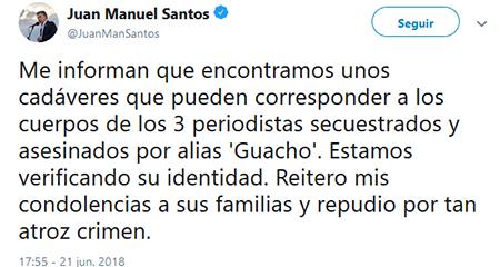 Presidente de Colombia anuncia que habrían hallado cuerpos que probablemente correspondan a equipo de El Comercio