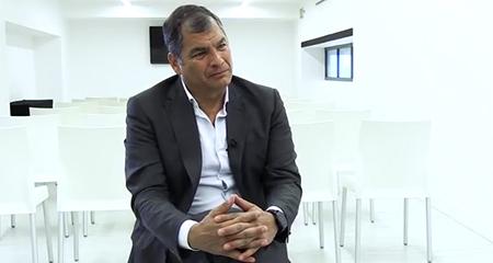 Rafael Correa llegó a Italia este sábado