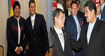 Maduro y Evo Morales se solidarizan con Rafael Correa