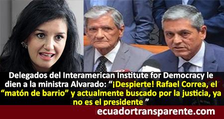 Interamerican Institute for Democracy responde a las desatinadas declaraciones de Rosana Alvarado