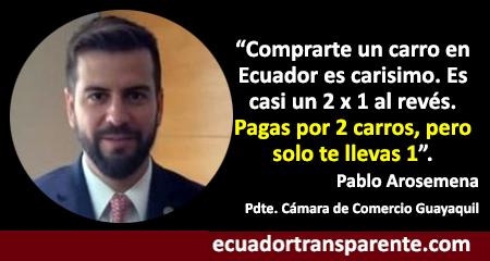 Presidente de Cámara de Comercio de Guayaquil explica alto costo de comprar vehículos en Ecuador