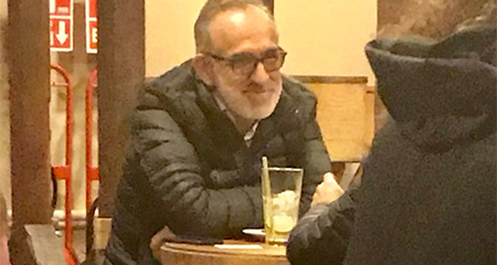 Ramiro González fue visto en restaurant en Lima-Perú