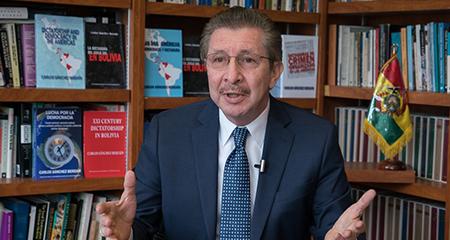 Carlos Sánchez Berzaín:  «Los ecuatorianos son ejemplares luchadores por la libertad y la democracia» (Video)