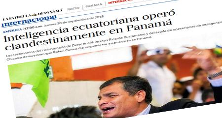 Inteligencia ecuatoriana habría operado clandestinamente en Panamá