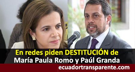 Fuertes críticas a ministros María Paula Romo(Interior) y Paúl Granda (Justicia) por fuga de Fernando Alvarado