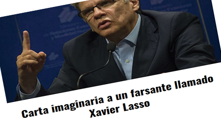 Periodista Martín Pallares escribe carta a Xavier Lasso, periodista servil al correísmo