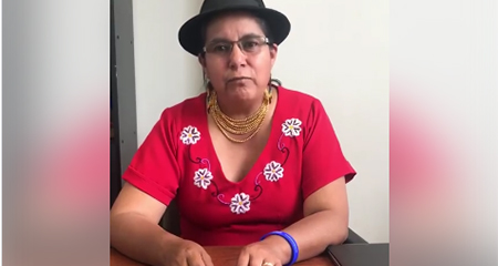 Lourdes Tibán pide que trasladen a Glas a la cárcel de la Roca en Guayaquil