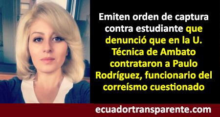 Emiten orden de captura contra estudiante que denunció contratación de funcionario cuestionado