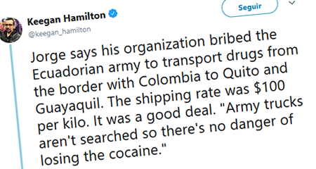 Testigo en caso del Chapo Guzmán relata que miembros de FF.AA ecuatorianas recibían sobornos para transportar droga