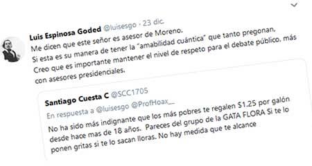 Consejero presidencial, Santiago Cuesta, se refiere en términos vulgares a profesor de la U. San Francisco de Quito