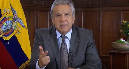 Lenin Moreno dice estar «escandalizado» por la corrupción en el correísmo, tras recibir informe de la ONU