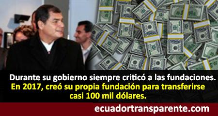 Correa dirigía fundación de la cual habría recibido una importante cantidad de dinero