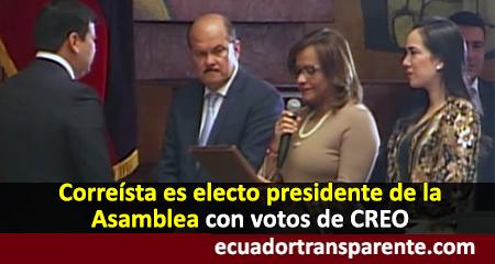César Litardo es electo Presidente de la Asamblea Nacional