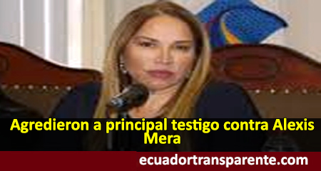 Pamela Martínez, principal testigo contra Alexis Mera habría sido agredida, según fiscal Diana Salazar