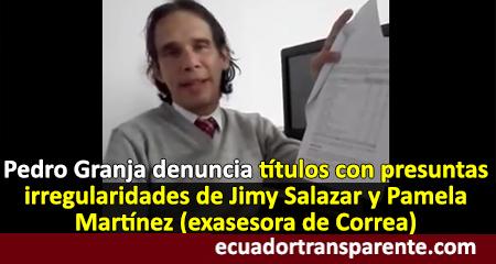 Denuncian ante fiscalía presuntas irregularidades en título de exasesora de Correa
