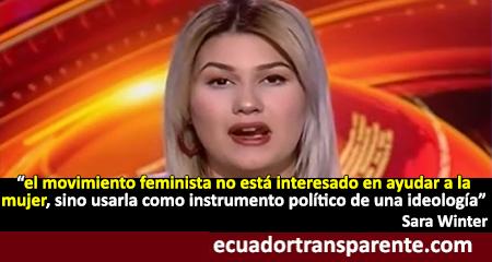 Ex feminista radical Sara Winter, revela su experiencia y los intereses detrás del movimiento feminista y proaborto
