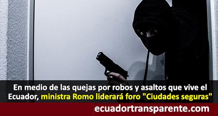 Anuncian foro Ciudades Seguras mientras los ecuatorianos se quejan de la inseguridad