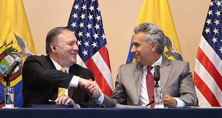 Renovada relación entre EE. UU. y Ecuador