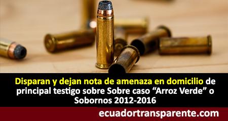 Disparan y dejan nota de amenaza en domicilio de Laura Terán, exasistente de despacho de Rafael Correa